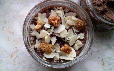 Krem czekoladowo-orzechowy z kaszy gryczanej (wegański, bezglutenowy, bez cukru)