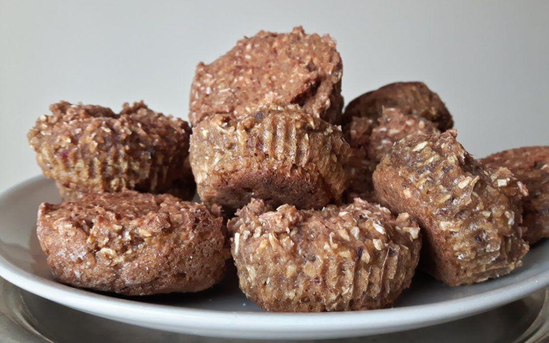Muffinki z pulpy po produkcji soku (wegańskie, bez cukru)